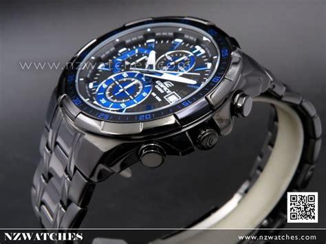 Casio Edifice Efr 539 Black Blue buy casio edifice black blue ion plated mens watches efr 539bk 1a2v efr539bk buy watches