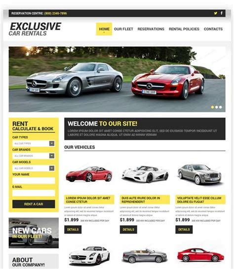 car html template 70 best car auto website templates free premium