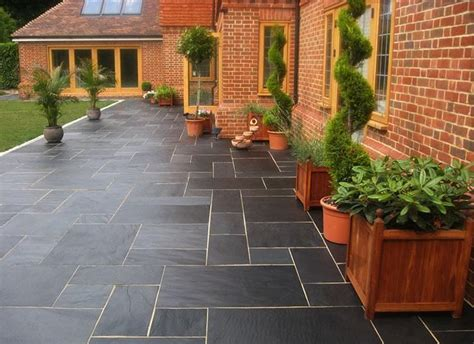 Patio Designs Using Slabs Nustone Black Slate Paving Slabs Garden Patio