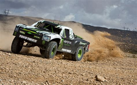 baja truck watch b j baldwin jump a nissan gt r with a trophy truck