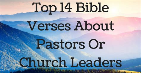 leaders in the church bible verses