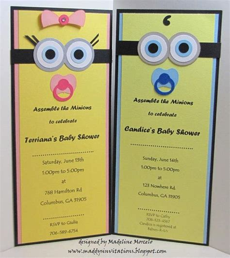 Handmade Minion Invitations - handmade minion or minion boy baby by