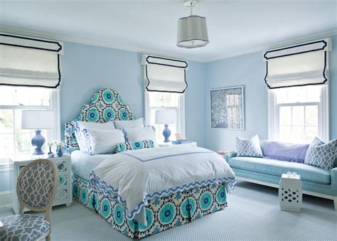 blue bedrooms for girls bedroom with blue walls contemporary bedroom