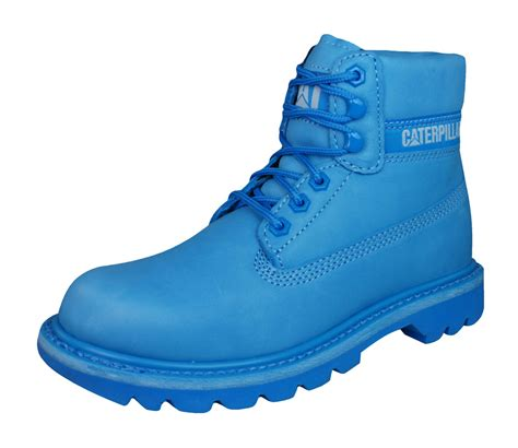 light blue boots caterpillar colorado womens 6 quot leather boots light blue