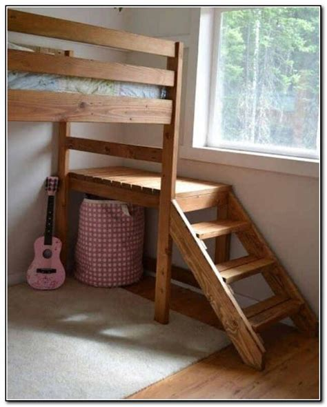 diy loft bed with stairs bunk bed stairs only beds home design ideas
