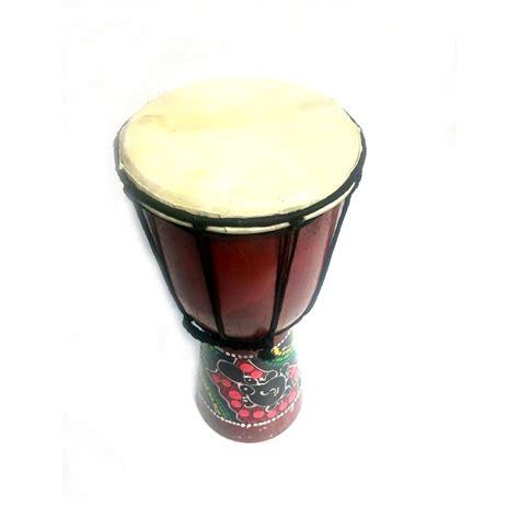 Ketipung Kulit 30 Cm jual kerajinan miniatur alat musik jimbe 30x16x16 cm