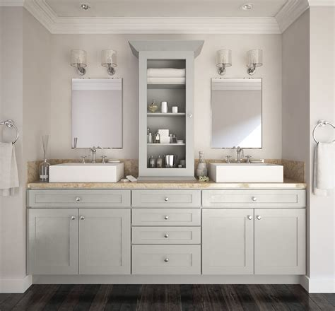 Premade Bathroom Vanities Society Shaker Steel Gray Pre Assembled Bathroom Vanities
