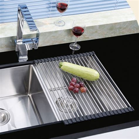 the sink roll up drying rack ahyuan roll up dish drying rack foldable stainless steel