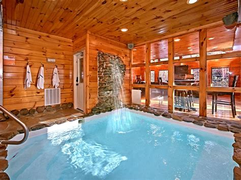 Cabin In Gatlinburg With Indoor Pool 2 bedroom cabin with indoor pool and vrbo