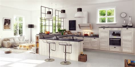 salon avec cuisine am駻icaine une cuisine 233 quip 233 e ouverte sur le salon