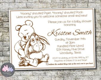 Classic Winnie The Pooh Baby Shower Invitations Printable by Classic Winnie The Pooh Baby Shower Invitations Classic