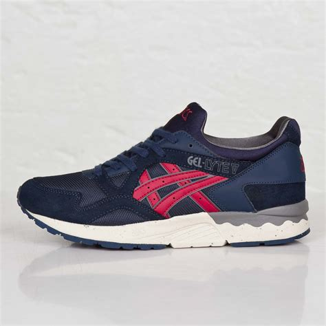 Asics Gel Lyte V Burgundy Sole Gum asics gel lyte v navy burgundy h5d0y 5025 new arrivals