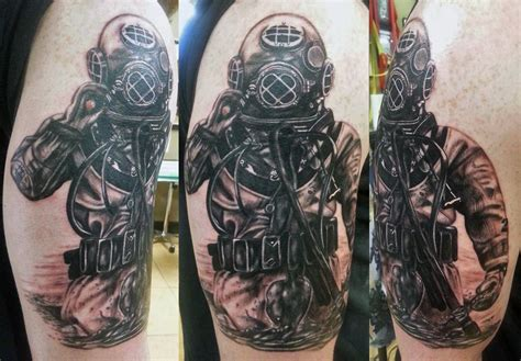 deep sea tattoo sea diver by tony nguyen at dead