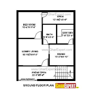 25by 50 plot size lay out plan house plan for 25 by 30 plot plot size 83 square yards 1806 house