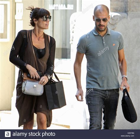 sala wife pep guardiola and cristina serra stock photos pep