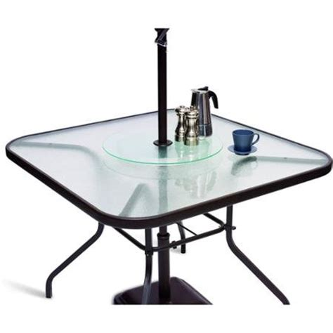 Mainstays Patio Lazy Susan For Patio Table Umbrella New Ebay Patio Table With Lazy Susan