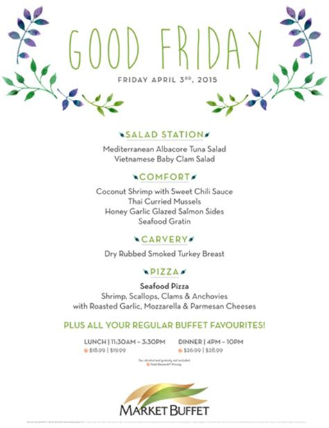 good friday menu at caesars windsor the market buffet