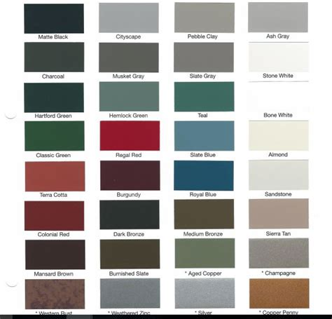 metal roof colors metal color choices metal roofing installation and repair