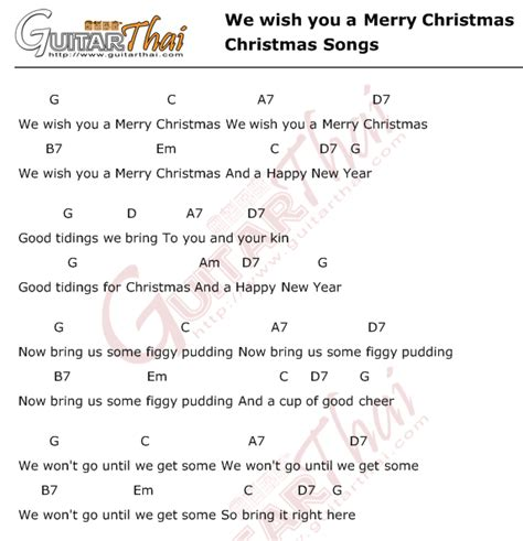 merry christmas christmas songs guitarthaicom