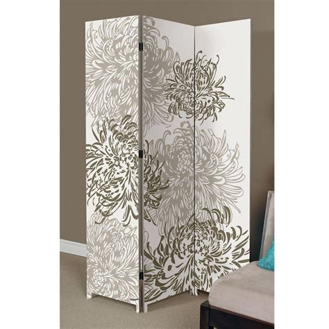 Canvas Room Divider Az Home And Gifts Bota 5 92 Ft Taupe And Ivory 3 Panel Room Divider Fn17875 7 The Home Depot