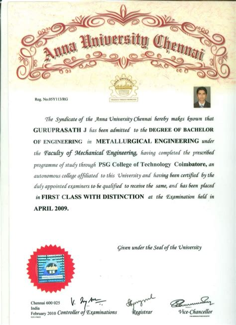 Mba Certificate For Sale In India by Be Degree Certificate
