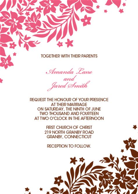 Thank You Letter Border Template Foliage Borders Invitation Rsvp And Thank You Cards Wedding Invitation Templates Printable
