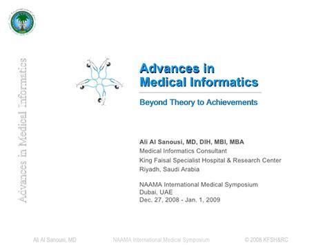 Mba In Health Informatics by Advances In Informatics