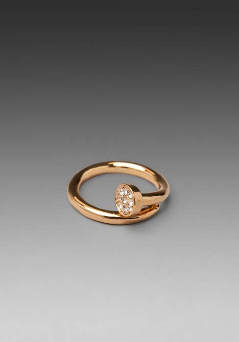 CC SKYE Shwayze Nail Ring in Gold at Revolve Clothing   Free Shipping!