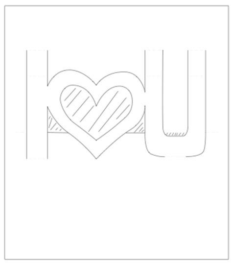 i u pop up card template pop up valentines card template i u paper kawaii