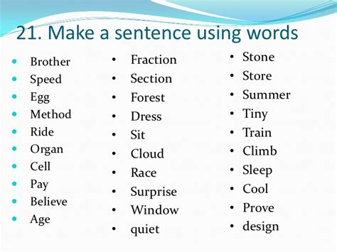 sectionalism used in a sentence 1000 most commonly used words