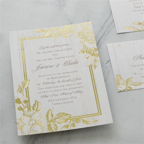 Glow Invitation Weddingku by Gardenia Glow Foil Invitation Invitations By