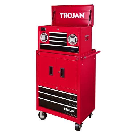 trojan tool chest and cabinet set trojan bluetooth speaker tool chest and trolley bunnings