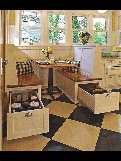 small kitchen table with storage underneath kitchen