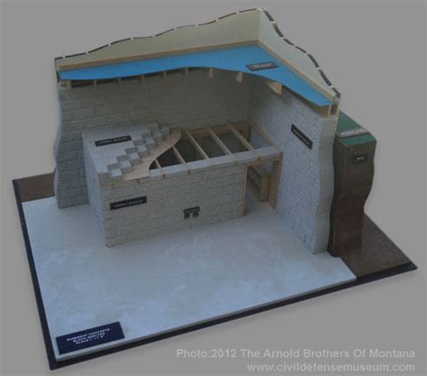 basement fallout shelter basement concrete block shelter model