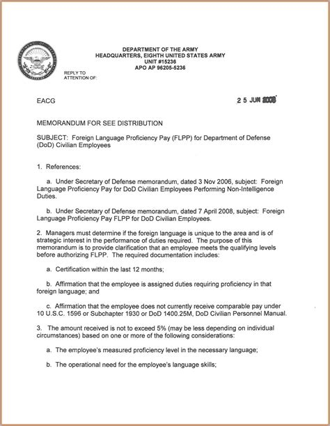 Sle Memo No Policy Memorandum For Record Template 28 Images Army Memo For