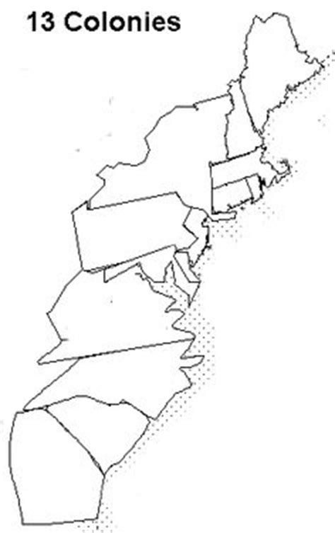 Coloring Page 13 Colonies Map by 13 Colonies Map Blank Search 13 Colonies