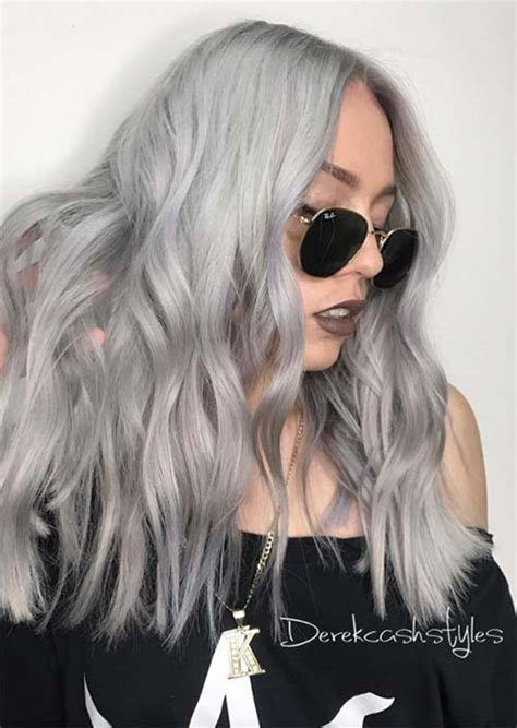 gray skin color silver hair trend 51 cool grey hair colors tips for