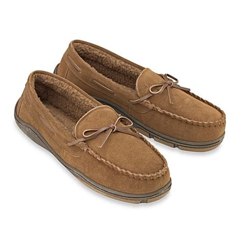 rockport house slippers buy rockport 174 s genuine suede moccasin slipper from