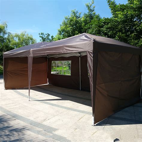 easy up gazebo new 10 x 20 outdoor easy pop up folding canopy gazebo