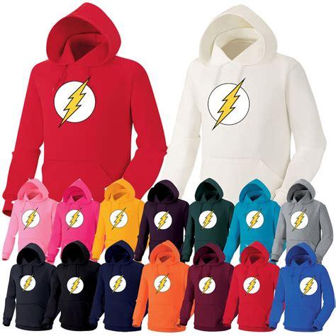 Hoodie The Flash 1 Hitam Merch dc comics the flash heavy cotton hooded sweatshirt hoodie hoody top ebay