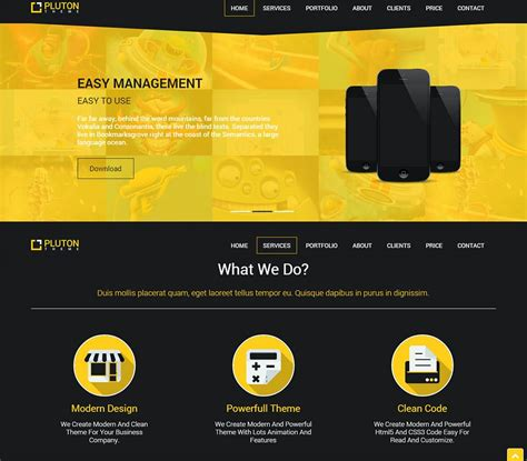 by template free 23 free html5 website themes templates free premium