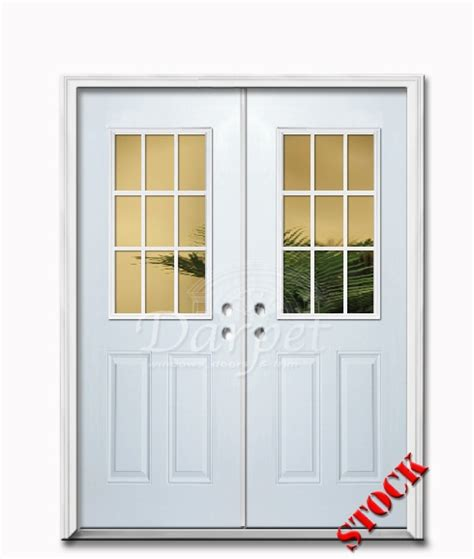 Exterior Steel Door With Window 9 Lite Half Clear Glass Steel Exterior Door 6 8 Darpet Interior Doors For Chicago