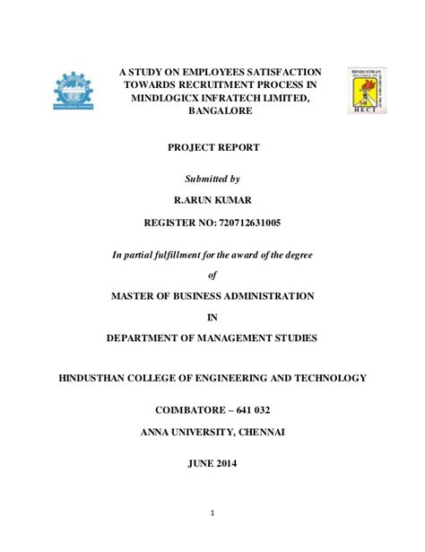 Mba Year Project by Mba Year Project