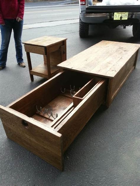 coffee table  locking gun safe  hoss
