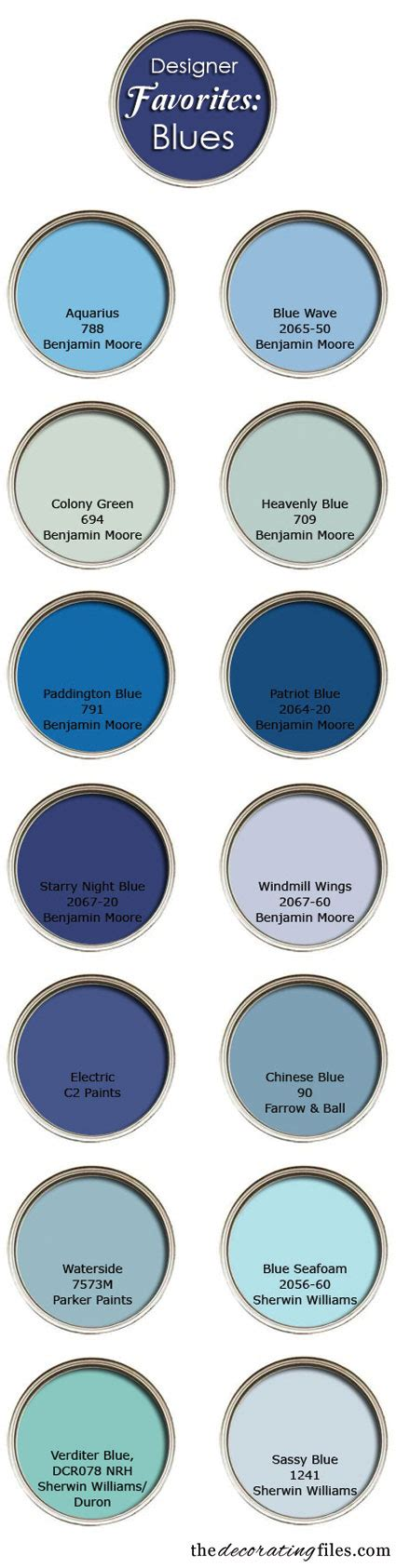 favorite blue blue paint colors favorite picks from designers
