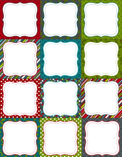 printable decorative gift tags printable christmas labels for homemade baking