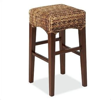 pottery barn seagrass bar stool seagrass backless barstool medium