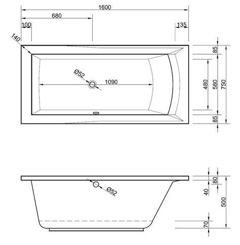 Badewanne 160 Cm by Badewanne 160 X 75 X 50 Cm Badewanne Badewanne Rechteck