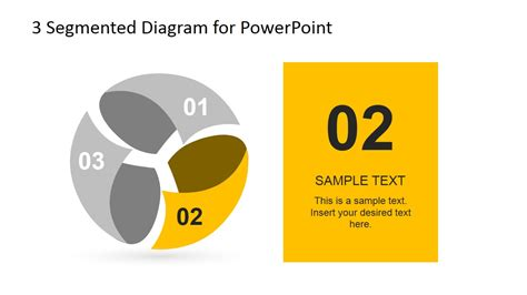 3 step spherical segmented diagram for powerpoint slidemodel 3 step spherical segmented diagram for powerpoint slidemodel