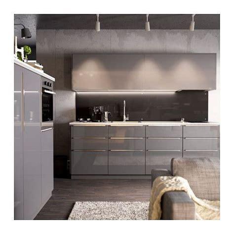 high cabinet kitchen ikea ringhult door high gloss gray drawer cabinet kitchen